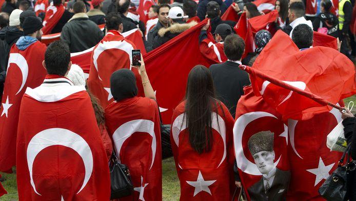 Een Turkse demonstratie op het Malieveld.