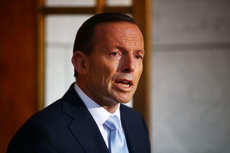 De Australische eerste minister Tony Abbott.