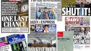 """""""Het donkerste uur voor de democratie"""" en """"nog een allerlaatste kans"""": Britse tabloids laten zich gaan"""