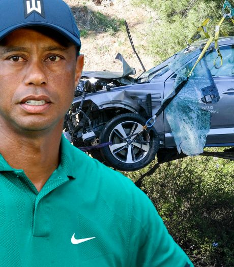 Oorzaak ernstig ongeluk Tiger Woods bekend: crash met 140 km/u