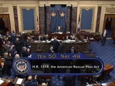 Senaat VS stemt met één stem verschil in met Bidens steunpakket van 1900 miljard dollar