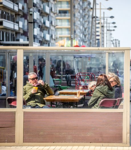 Les terrasses déjà ouvertes à Middelkerke