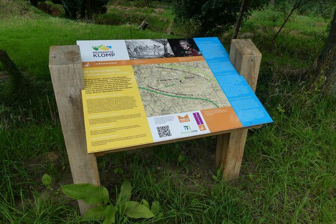Uitleg over de Slag bij Boxtel aan de Schrijvershoef in Schijndel.