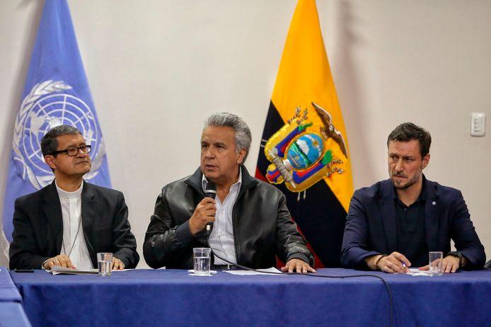 President Lenin Moreno belooft het afschaffen van de brandstofsubsidie terug te draaien.