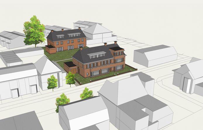 Zes nieuwe woningen bij de Poolseweg in Breda.