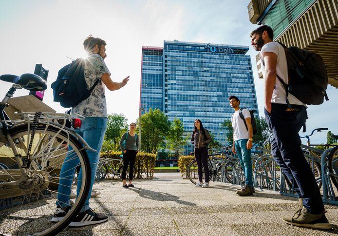 Studenten op de TU in Delft.