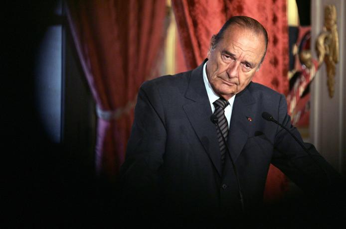 Jacques Chirac en janvier 2007