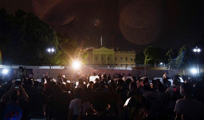 Devant la Maison Blanche à Washington.