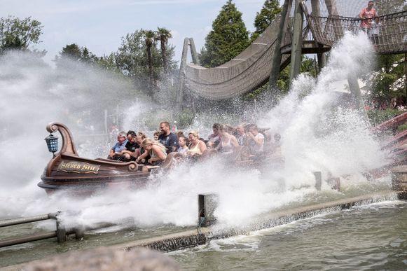 De Super Splash in Plopsaland De Panne, ter illustratie.