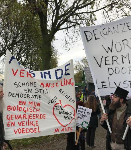 Demonstratie tegen Lelystad Airport