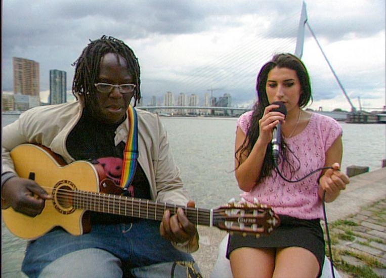Still uit Arjan Vlakvelds documentaire Amy Winehouse in Nederland  Beeld