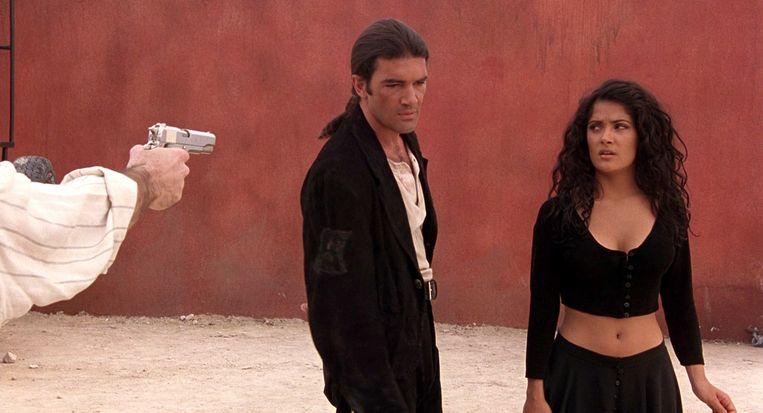 Antonio Banderas en Salma Hayek in Desperado van Robert Rodriguez. Beeld