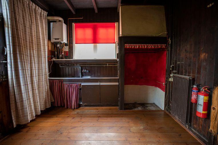 Het leegstaande huis van de vorig jaar overleden schrijver Maarten Biesheuvel en zijn al eerder overleden vrouw Eva. Hun 'Sunny Home' in Leiden is inmiddels verkocht via Funda.  Beeld Werry Crone