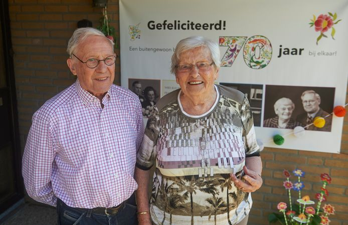 Frans en Wies Waber uit Oss zijn 70 jaar getrouwd