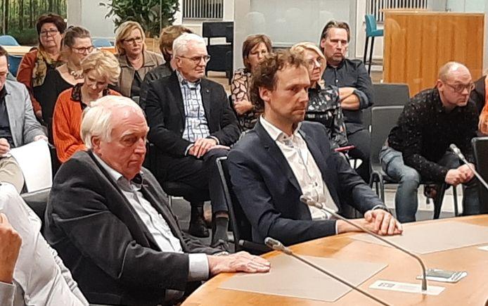 Beoogd directeur Kris Roemers (rechts) en bestuursvoorzitter Aad van Lopik van 'De Nieuwe Instelling' in Heesch.