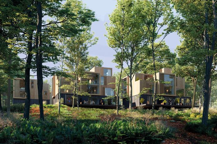 'Reguliere woningen' in Het Dorp in Arnhem: een artist impression,