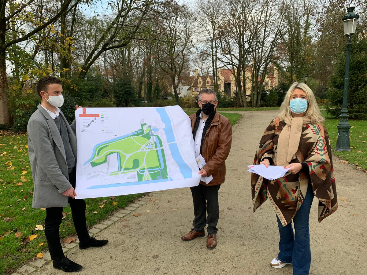 Het Brugse Minnewaterpark wordt heraangelegd.