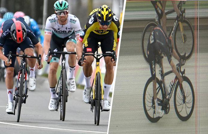 Het verschil tussen Pidcock en Van Aert was héél beperkt in de Amstel Gold Race.