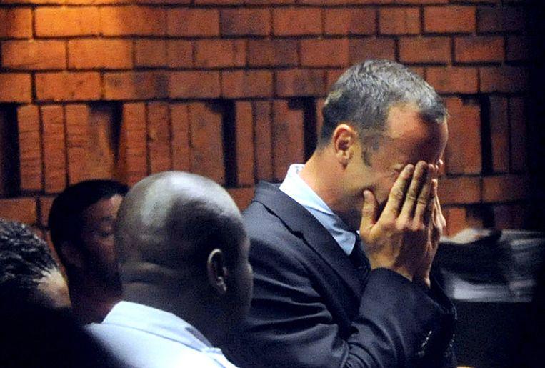 Pistorius afgelopen vrijdag in de rechtbank. Beeld afp