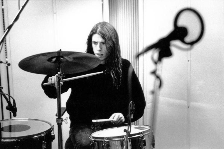 Ten tijde van Nirvana. 'Op mijn 16de, 17de wilde ik de beste drummer aller tijden worden. Daar ben ik nu niet meer mee bezig. Ik ben goed genoeg, en dat volstaat voor mij.' Beeld Redferns