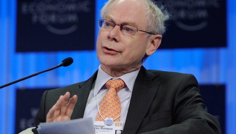 Voorzitter van de Europese Raad Herman Van Rompuy.