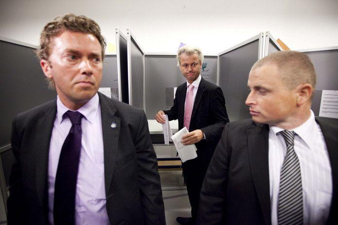 Foto ter illustratie. De verdachte zou niet tot de directe beveiligers van Wilders hebben behoord en staat dus niet op deze foto.