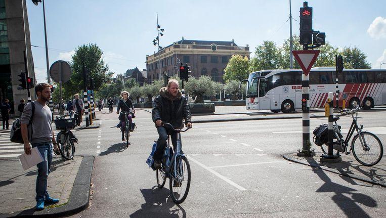 20 seconden is volgens de gemeente Amsterdam de wenselijke maximale wachttijd. Beeld Floris Lok