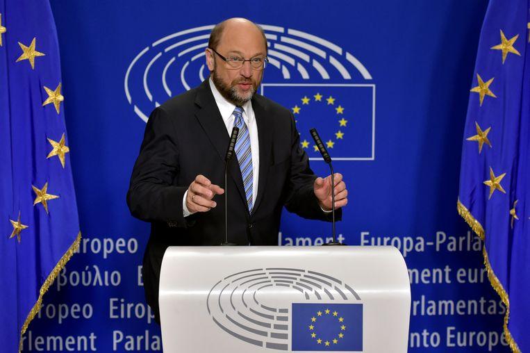 Voorzitter van het Europees Parlement Martin Schulz. Beeld REUTERS
