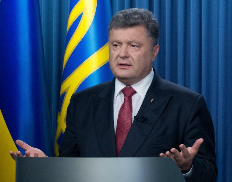 De Oekraïense president Porosjenko. Beeld AP
