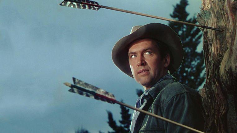James Stewart in Broken Arrow van Delmer Daves. Beeld