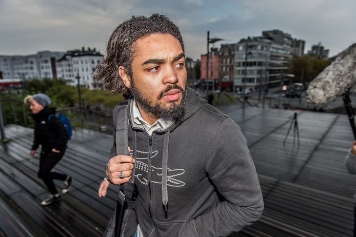 Jejoen Bontinck, lors du procès Sharia4Belgium, en 2014, à Anvers