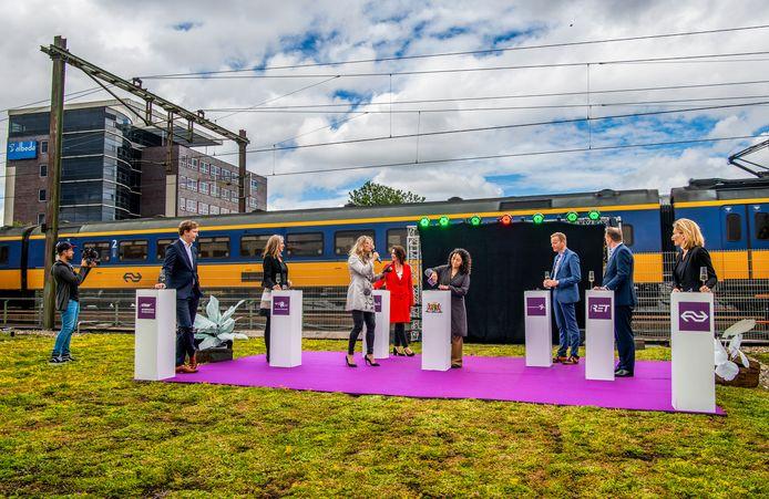 De heropening van het verbouwde NS-station Rotterdam-Alexander was vorig jaar een van de eerste resultaten voor de Alexanderknoop.
