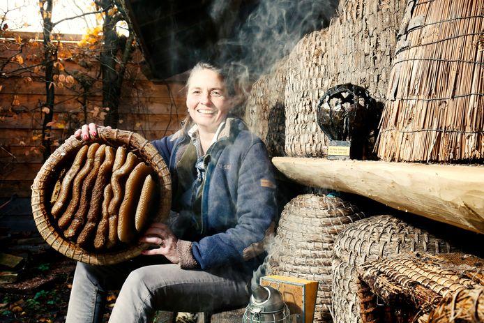 Sonne Copijn is met haar bijenbedrijf de duurzamste ondernemer van De Bilt geworden.