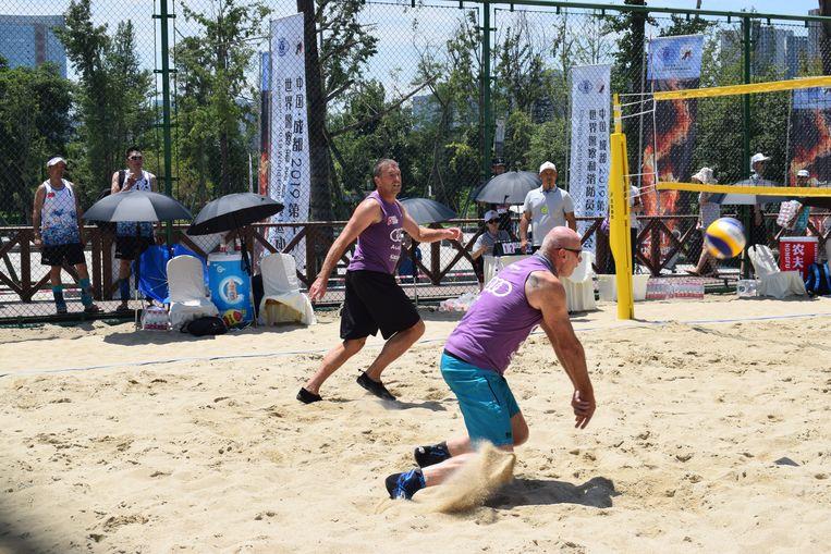 Dirk en Christiaan in actie in China tijdens de World GAmes for Police and Fire.