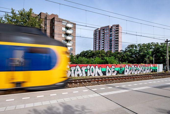 Een intercity stopt niet voor station De Bloedkuul. Alleen stoptreinen/'sprinters' stoppen op station De Goffert.