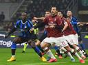 Lukaku en Zlatan, in februari tijdens de derby.