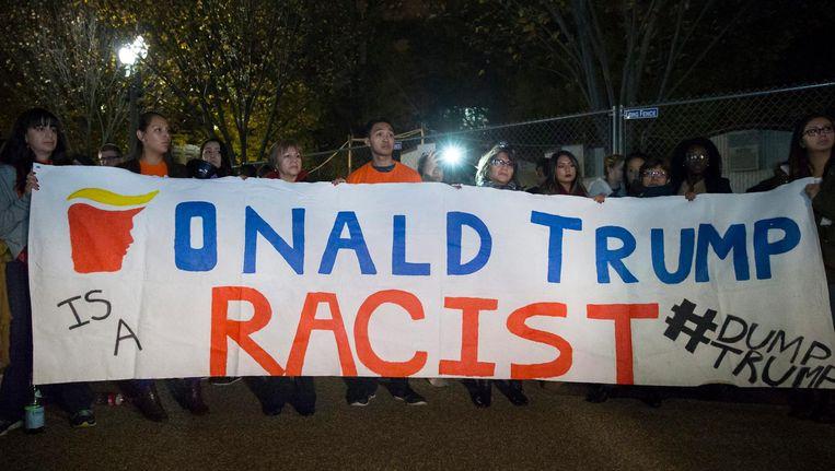 Immigranten demonstreren voor het Witte Huis Beeld epa