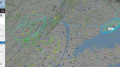 """""""Privéjet met Post Malone aan boord"""" cirkelt al uren boven New Jersey nadat twee banden klapten bij het opstijgen"""