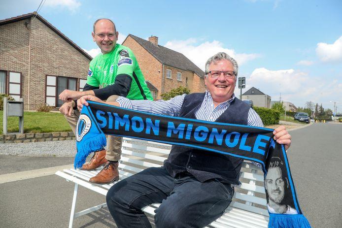 Stefaan Mignolet en Rutger Vandevoordt, vaders van Simon en Maarten.