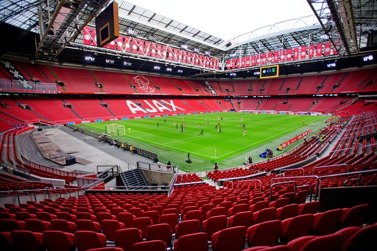 Ajax speelt een oefenwedstrijd tegen RKC in een lege Johan Cruyff Arena.  Beeld Hollandse Hoogte /  ANP