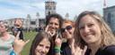 Hendrik Coucke, Chloë Haverbeke, Dafne Haverbeke en Juna Coucke genieten op dit moment van de allereerste optredens.