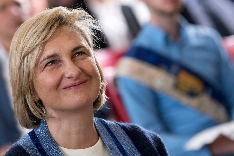 Kandidaat-minister-president Hilde Crevits (CD&V).  Beeld Photo News