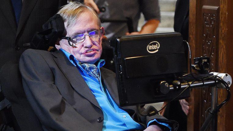 De Britse wetenschapper Stephen Hawking.