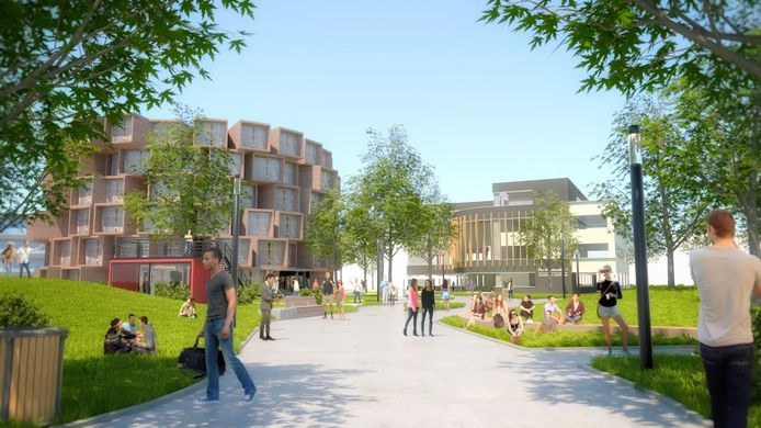 Een beeld van het 'nieuwe Kennispark Twente'.