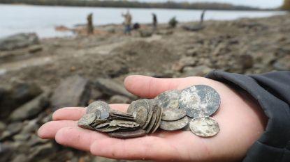 Schat met goud- en zilverstukken ontdekt in laagstaande Donau