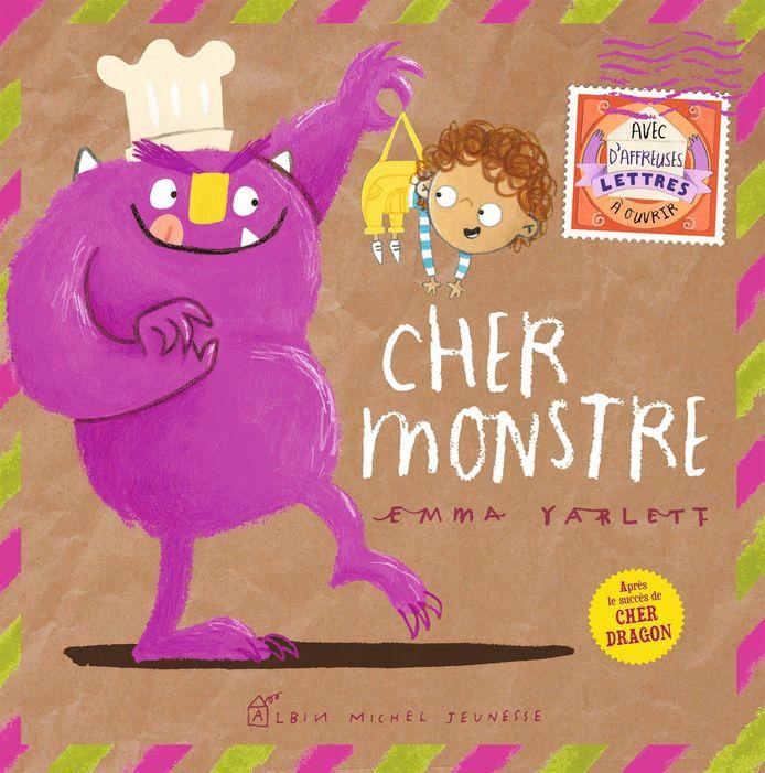 Cher monstre est un livre avec des lettres à ouvrir et à lire au fur et à mesure de l'avancement de l'histoire.