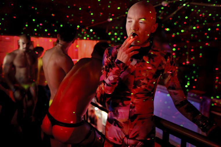 Gaynachtclub Central Station in Sint-Petersburg. Beeld Mads Nissen/ Scanpix/ Panos Pictures