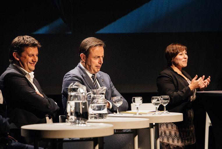 John Crombez, Bart De Wever en Meyrem Almaci. Beeld Wouter Van Vooren