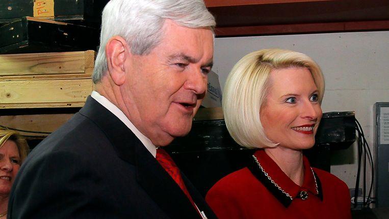 Newt Gingrich en zijn echtgenote Callista. Beeld REUTERS