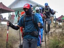 Plus de 500 randonneurs évacués d'un volcan
